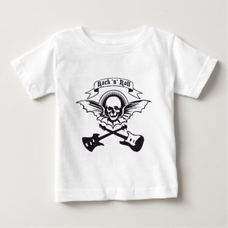 flying guitar rock skull baby T-Shirt