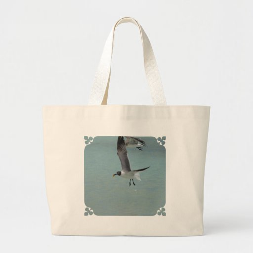 Flying Gull Tote Bags