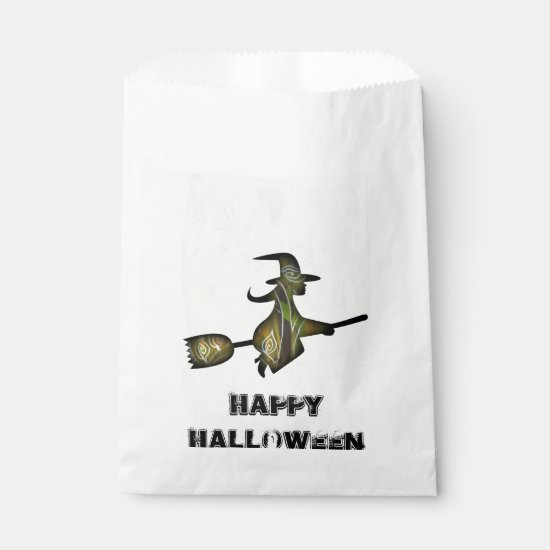 Flying Halloween Witch custom Halloween favor bag