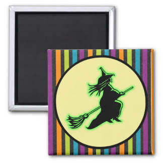 Flying Halloween Witch Magnet