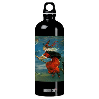 Flying Halloween Witch with Cat SIGG Traveler 1.0L Water Bottle