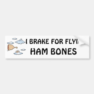 Flying Ham Bone Bumper Sticker