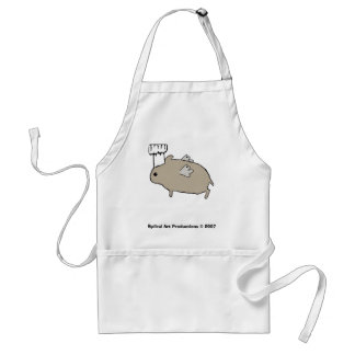 Flying Hamster Chef Adult Apron
