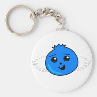 Flying Happy Blueberry Keychain