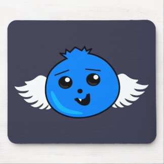 Flying Happy Blueberry Mouse Pad