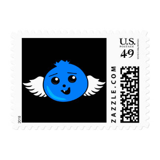 Flying Happy Blueberry Postage
