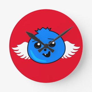 Flying Happy Blueberry Round Clock
