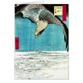 Flying Hawk 1857 Greeting Card