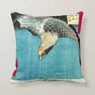 Flying Hawk 1857 Throw Pillows