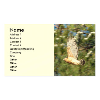 Flying hawk business cards