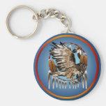 Flying Hawk Dreamcatcher Keychain