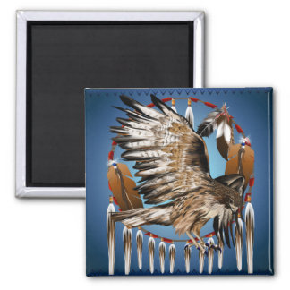 Flying Hawk Dreamcatcher Magnet