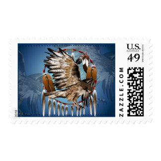 Flying Hawk Dreamcatcher Postage