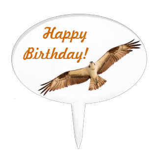 Flying Hawk Happy Birthday Cake Topper