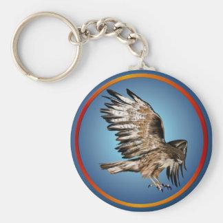 Flying Hawk Keychain