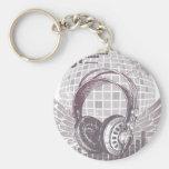Flying Headphones Key Chain