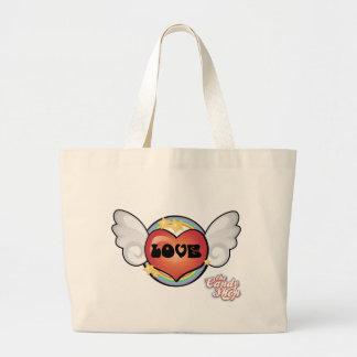 Flying Heart, CAndyshop Logo Large Tote Bag