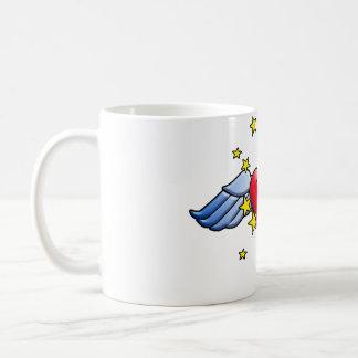 Flying Heart Classic White Coffee Mug