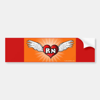 Flying Heart RN Bumper Sticker