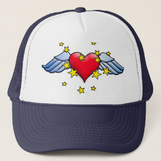 Flying Heart Trucker Hat