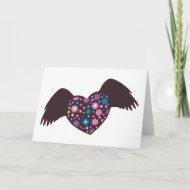 Flying Heart - Violet card