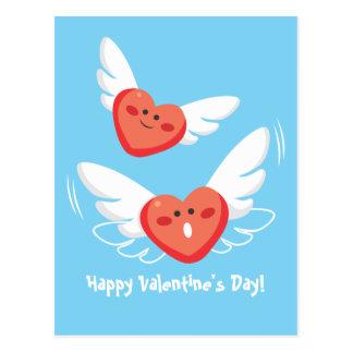 Flying Hearts Postcard