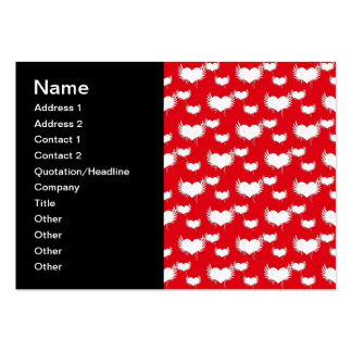 Flying Hearts Red and White Valentine s Pattern Business Cards