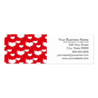 Flying Hearts Red and White Valentine s Pattern Business Card Templates