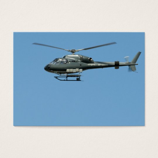 Flying helicopter business card
