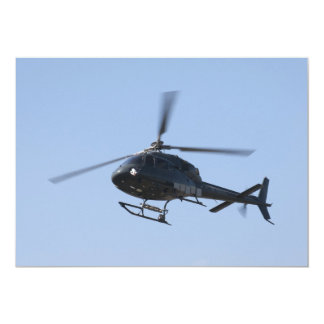 Flying helicopter personalized announcements