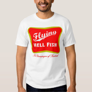 Flying Hellfish Champagne - Red with Back Text Shirt