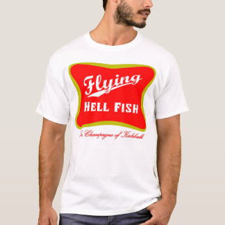 Flying Hellfish Champagne - Red with Back Text T-Shirt