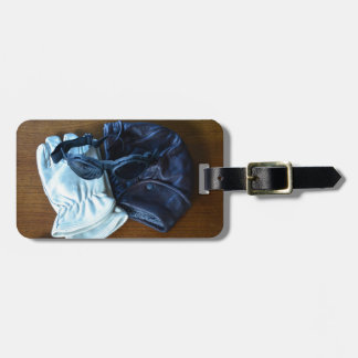 Flying Helmet Goggles and Gloves Tag For Luggage