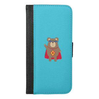 Flying Hero Bear Q1Q iPhone 6/6s Plus Wallet Case