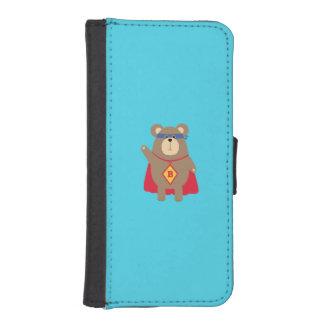 Flying Hero Bear Q1Q iPhone SE/5/5s Wallet Case