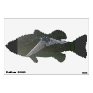 Flying Heron Bass Wall Decal