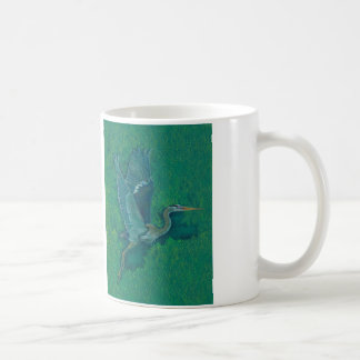 Flying Heron Coffee Mug