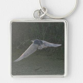 Flying Heron Large Premium Keychain