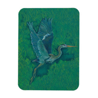 Flying heron magnet