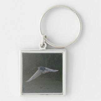 Flying Heron Small Premium Keychain