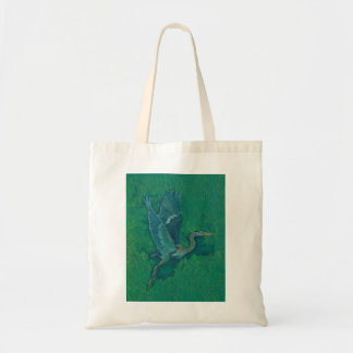 Flying heron totebag tote bag