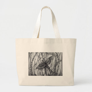 flying high bird of pray freedom flyer large tote bag