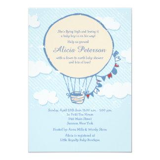 "Flying High Boy Baby Shower Invitations 5"" X 7"" Invitation Card"