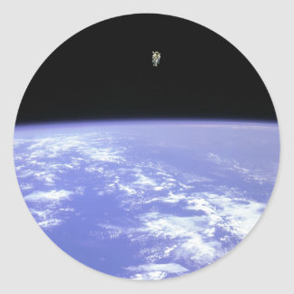flying high classic round sticker