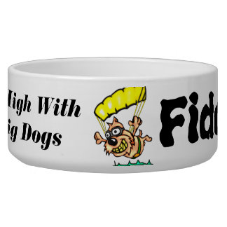 Flying High Customized Dogs Bowls
