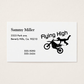 Flying High Dirt Bike Stunt Business Card