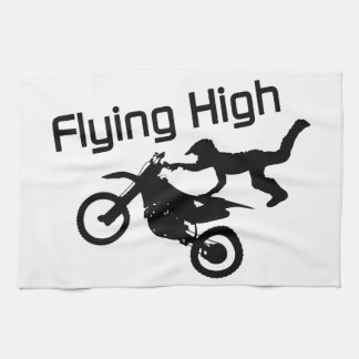 Flying High Dirt Bike Stunt Kitchen Towel