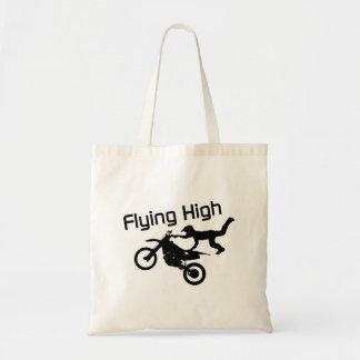 Flying High Dirt Bike Stunt Tote Bag