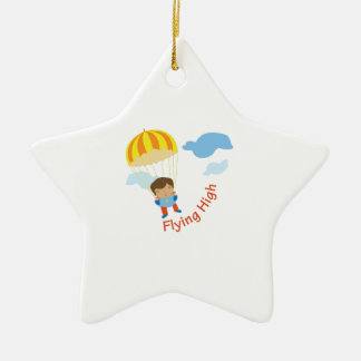 Flying High Double-Sided Star Ceramic Christmas Ornament