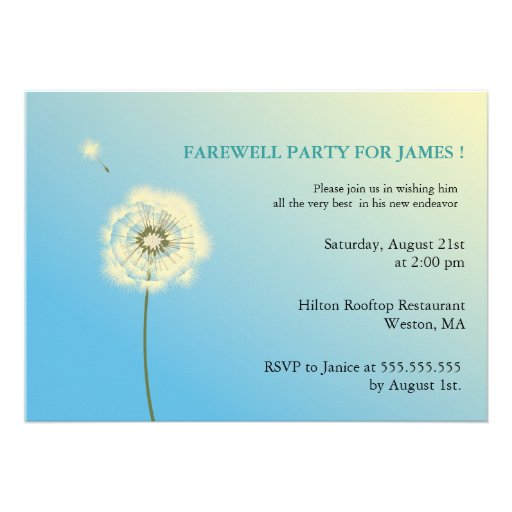 Co-Worker Fare Well Party Invitation